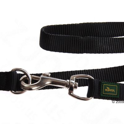 Correa ajustable HUNTER Vario Basic negra para perros