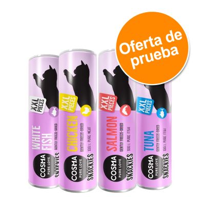Cosma Snackies XXL snacks para gatos - Pack de prueba mixto