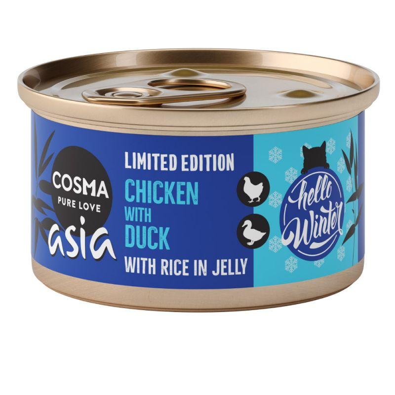 Cosma Asia Menu d'hiver poulet, canard 6 x 85 g pour chat