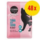 Cosma Asia Pouches -säästöpakkaus 48 x 100 g