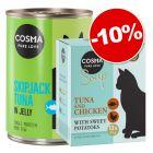 Cosma en gelée Thai/Asia ou Original 6 x 400 g + sachets Cosma Soup : 10 % de remise !