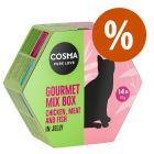 Cosma Gourmet Mix Box comida húmeda en gelatina ¡con descuento!