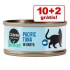 Cosma Nature comida húmida para gatos 12 x 70 g em promoção: 10 + 2 latas grátis!