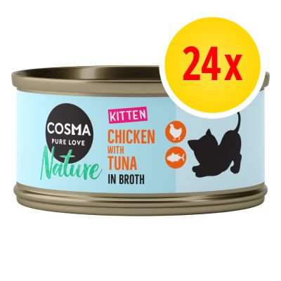 Cosma Nature Kitten Multibuy 24 x 70g