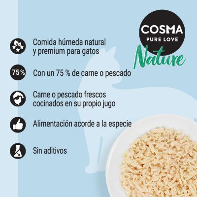 Cosma Nature Kitten 24 x 70 g - Pack Ahorro