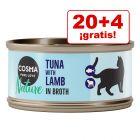 Cosma Nature 24 x 70 g latas en oferta: 20 + 4 ¡gratis!