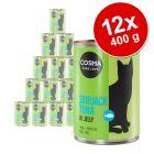 Cosma Original em gelatina 12 x 400 g - Pack económico