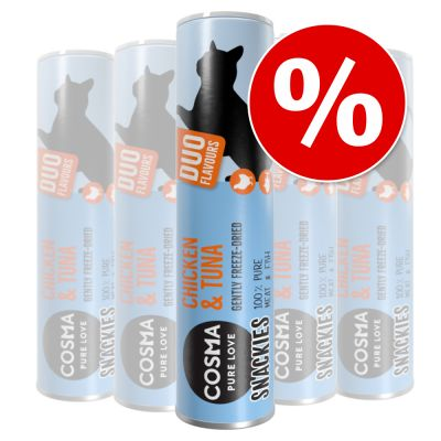 Cosma snackies DUO snacks liofilizados para gatos - Pack económico