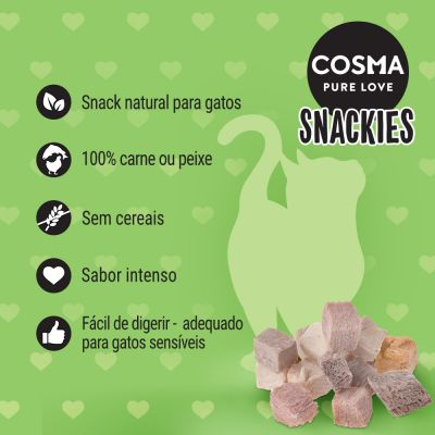 Cosma Snackies snacks liofilizados para gatos