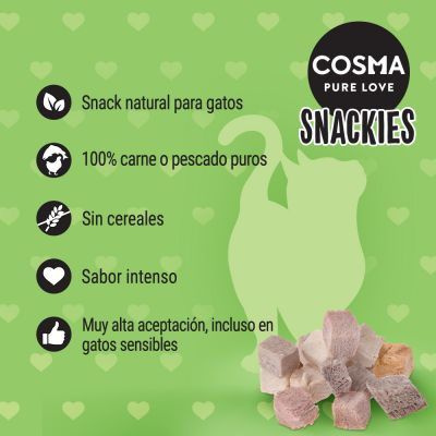 Cosma Snackies snacks para gatos