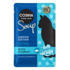 Cosma Soup édition d'hiver thon, potiron pour chat