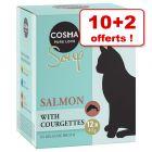 Cosma Soup pour chat 10 x 40 g + 2 x 40 g offerts !