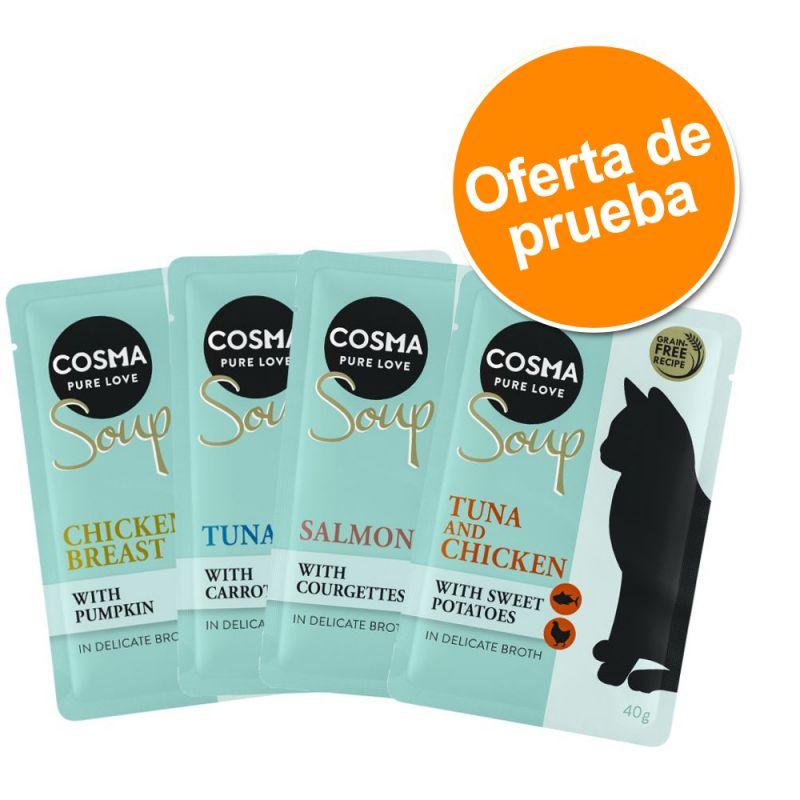 Cosma Soup 4 x 40 g - Pack de prueba mixto