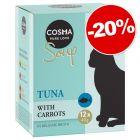 Cosma Soup 12 x 40 g pour chat : 20 % de remise !