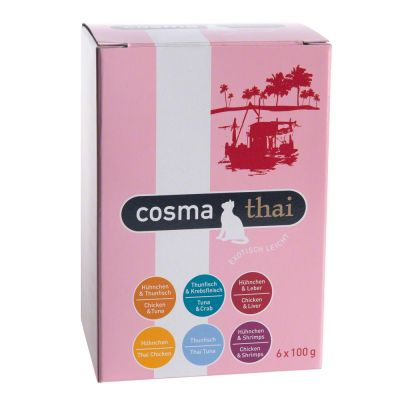 Cosma Thai/Asia in Jelly Pouches 6 x 100g