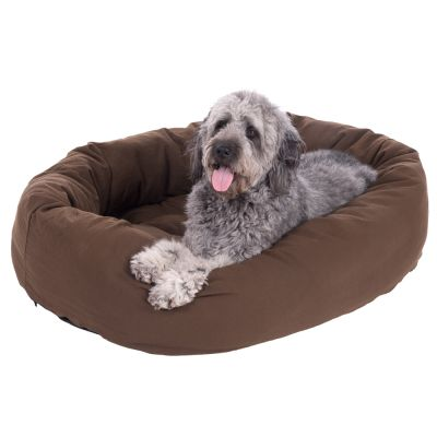 Cosy Mocca Dog Bed - Dark Brown