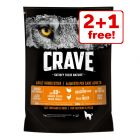 Crave Adult Dry Dog Food - 2 + 1 Free!*