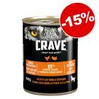 Crave Adult barquettes 300 g ou boîtes 6 x 400 g : 15 % de remise !