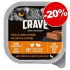 Crave Adult barquettes 300 g ou boîtes 6 x 400 g : 20 % de remise !