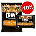 Crave Adult 750 g + 4 x 85 g Crave Adult poulet, dinde : 10 % de remise !