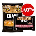 Crave Adult 750 g + 4 x 85 g Crave Adult saumon, poulet : 10 % de remise !