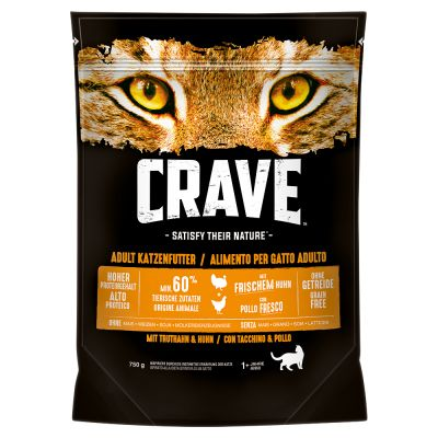 Crave Adult karma sucha + Sheba Perfect Portions 6 x 37,5 g w super cenie!