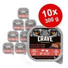 Crave Adult paszteciki dla psa, 10 x 300 g