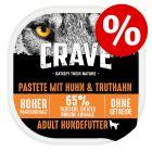 Crave Adult Paté koiranruoka 300 g: -20 % alennuksella!