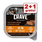 Crave Adult Patê 3 x 300 g em promoção: 2 + 1 grátis!