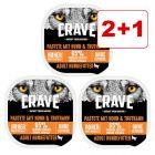 Crave Adult Paté 3 x 300 g: 2 + 1 kaupan päälle!