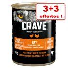 Crave Adult pour chien 3 x 400 g + 3 boîtes offertes !