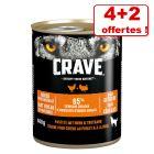 Crave Adult pour chien 4 x 400 g + 2 boîtes offertes !