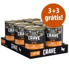 Crave Adult 6 x 400 g comida húmida em promoção: 3 + 3 grátis!