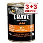 Crave Adult 6 x 400 g para perros en oferta: 3 + 3 ¡gratis!