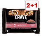 Crave Pouch kissan märkäruoka: 2 + 1 kaupan päälle!