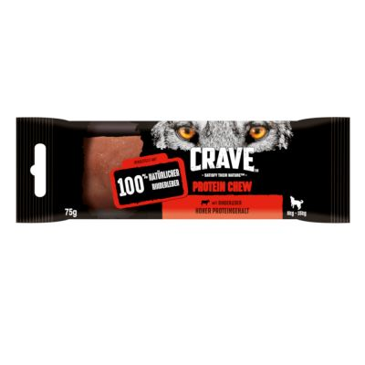 Crave Protein Chew Dog Snacks with Beef