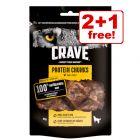 Crave Protein Dog Snacks - 2 + 1 Free!*