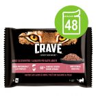 Crave 48 x 85 g en bolsitas para gatos - Pack Ahorro mixto