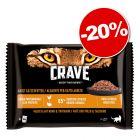 Crave 4 x 85 g pour chat : 20 % de remise !