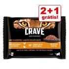 Crave 4 x 85 g saquetas - Pack misto em promoção: 2 + 1 grátis!