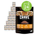 Crave 24 x 85 g saquetas para gatos