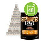 Crave 48 x 85 g saquetas para gatos - Pack económico