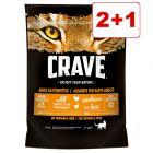 Crave-kuivaruoka 3 x 750 g: 2 + 1 kaupan päälle!