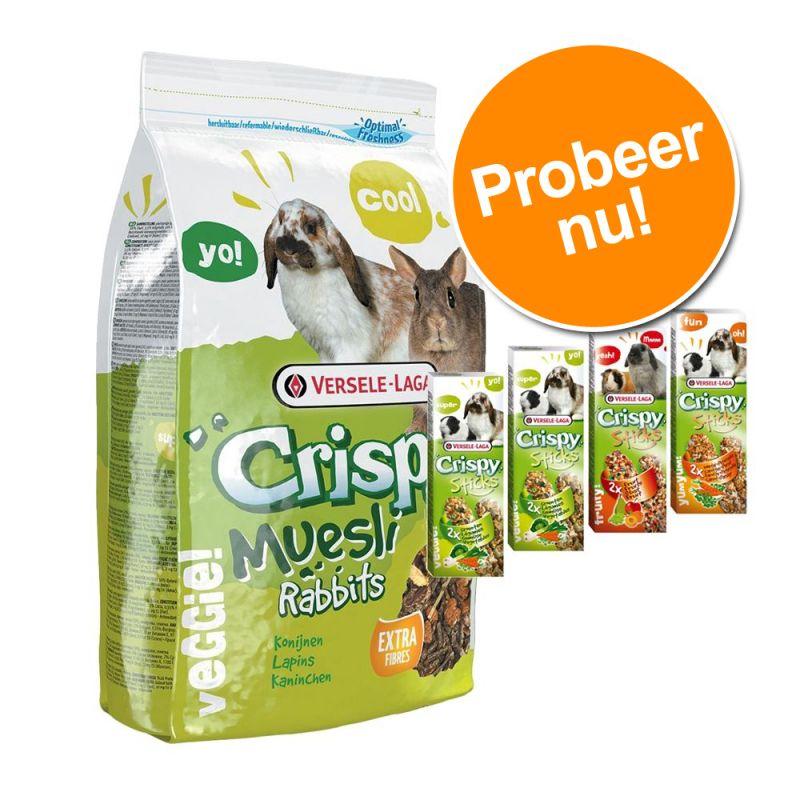 Crispy Muesli Konijn + Versele-Laga Sticks voor een voordeelprijs