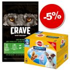 Croquettes Crave 11,5 kg + friandises Pedigree Dentastix Daily Oral Care 56 x : 5 % de remise !