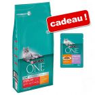 Croquettes PURINA ONE 6 kg + 12 sachets Sensitive offerts !