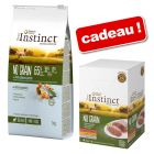 Croquettes True Instinct No Grain Mini 7 kg + multipack Mini 4 x 150 g offert !