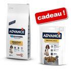 Croquettes Advance 7,5 à 18 kg + friandises Sensitive Snack 150 g offertes !