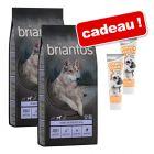 Croquettes Briantos 2 x 12 / 14 kg + friandises Cream Team 2 x 75 g offertes !