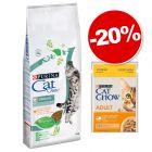 Croquettes CAT CHOW 15 kg + Sachets 26 x 85 g poulet : 20 % de remise !